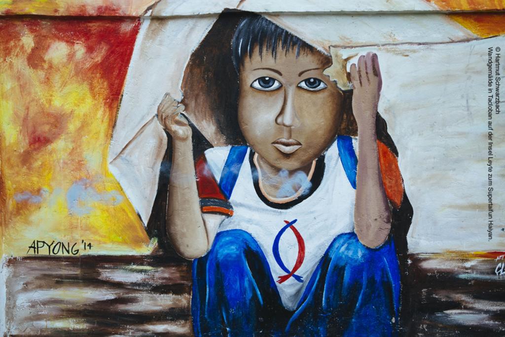 Ökumenisches Friedensgebet 2016  Abbildung: Wandgemälde in Tacloban auf der Insel Leyte zum Supertaifun Haiyan. | Foto: © Hartmut Schwarzbach